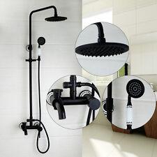 De luxe noir douche  mélangeur set-douche combiné & overhead riser