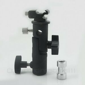 Flash Bracket Hot Shoe Umbrella Holder Mount Light Stand For DSLR Camera E Type
