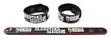 SLEEPING WITH SIRENS  Rubber Bracelet Wristband Let's Cheers to This/Feel aa102