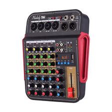 Muslady Digital 4-Channel Audio Mixer Mixing Console 48V Phantom Power BT A6E5