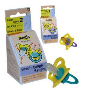 Mollis Beruhigungssauger Oval Doppelpack Schnuller mit Ring