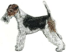 "3 1/4"" Fox Terrier Full Body Dog Breed Embroidery Patch"