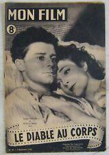 Revue Mon Film n° 67 Novembre 1947 Le diable au corps Gérard Philipe