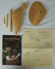 Stoney Point Decoys Handcrafted Solid Wood 1992 Sandpiper, Sanderling & Plover