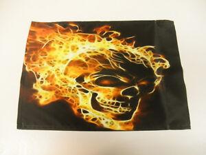 Flaming Skull Flag ATV UTV