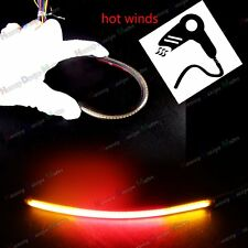 "8"" LED Smoked Lens Light Bar&Brake Turn Signals For Motorcycle Car Fender"