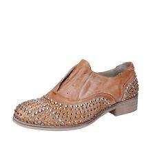 scarpe donna ONAKO' 39 EU classiche marrone pelle borchie BZ628-E