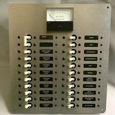 DC Power Distribution Panel w/Analog DC Voltmeter, Fully Wired Ready to Install