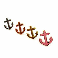 Lovely vintage retro style sailor anchor stud earrings multiple choices