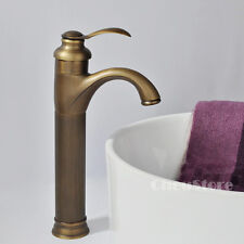 Single Handle Counter Top Antique Brass Bathroom Basin Faucet Sink Mixer Tap NEW