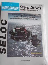 MERCRUISER STERNDRIVE SERVICE REPAIR MANUAL 1964  to 1991 SELOC 3200