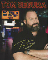 COMEDIAN TOM SEGURA SIGNED AUTHENTIC 8x10 PHOTO 2 w/COA ACTOR STAND UP PROOF