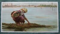 Antique Chromolithograph Print Knapp 19th C Lithograph Fine Art Painting Venice