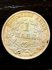 DEUTSCHES REIGH -1 GERMAN SILVER MARK YEAR 1914 DD -RARE