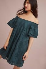 NWT Anthropologie Carter Off-The-Shoulder Swing Dress By Joa Size Small