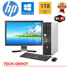 "HP Desktop PC Computer Windows 10 Core 2 Duo 19"" LCD 8GB Ram 1TB Win 10 WiFi"