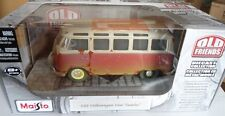 "VW COMBI SAMBA VAN ""OLD FRIENDS"" - MAISTO 1/25 NO 1/24 NEUF"