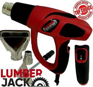 Paint Stripper Heat Gun Dual Settings with Nozzles & Scraper 240v Lumberjack