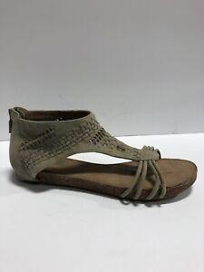 Me Too, Adam Tucker, Women's Nolana, Open Toe Sandals-Gray, Size 8.5M.