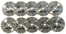 "10pk 5"" Diamond Saw Blade for Masonry, Concrete, Stone, paver fits angle grinder"
