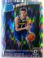 2018 18-19 OPTIC Shock Prizm MIchael Porter Jr. Rookie RC #182, RATED ROOKIE