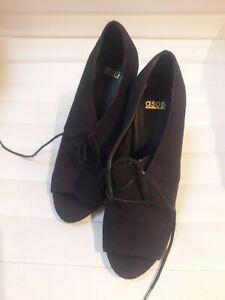 Ladies ASOS Black Suede effect High Heel Shoe.