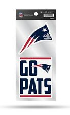 New England Patriots Double Up Sticker Sheet Die Cut Decal Team Color 2 Logos