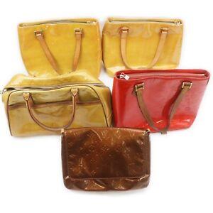 Louis Vuitton Vernis Hand Bag Shoulder Bag 5 pieces set 519066