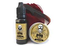 Moustache Wax,  Beard Oil, Comb & Bag Grooming Kit - The Beard and The Wonderful