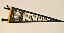 Custom Designed Winston-Salem North Carolina Vintage Style Felt Pennant Souvenir