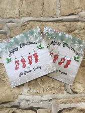 5 Pack Personalised Christmas Cards. Our Family Christmas Cards