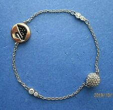 Authentic Swarovski Remix Collection Swan Strand Bracelet with Magnetic Closure