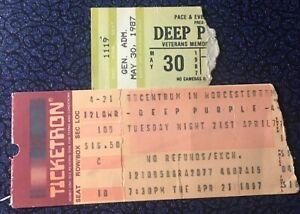 Deep Purple Bad Company Joan Jett 2 Concert Ticket Stub Lot 1987