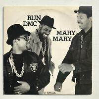 "Run-DMC Mary Mary Vinyl Record Original 1988 Hip Hop 12"" Rare Promo"