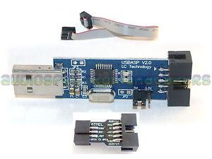 🇬🇧 USBasp Programmer cable & adapter FW V1.06 USB AVR ok with 2560 TPI ATTINY