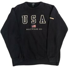 New listing SDI Non - Fiction Men's Blue Embroidered USA Sport Sweatshirt Pullover Size XL