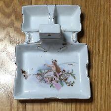Vintage Victorian Lady Jewelry Trinket Tray Dish Ashtray