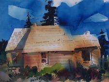 """SUMMITVILLE""  original watercolor by American artist Micheal Jones"