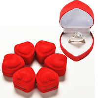 Heart Shaped Ring Box Red Love Heart Storage Box Jewelry Display Box AU~ gt