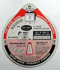 SELECTRON 1959 Pinwheel Television Electronic Tube Troubleshooter Quik-Chek