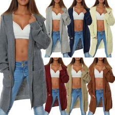 Damen Strick Cardigan Jacke Weste Mantel Langarm Pullover Bolero Bluse No 15729