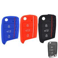Car Silicone Holder Key Cover Remote Fob Case For VW Polo Golf Tiguan for Skoda