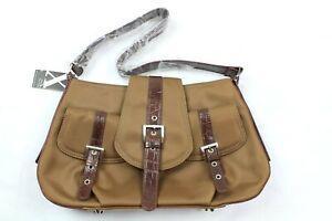 Maxx New York Women's Brown Faux Leather Shoulder Handbag