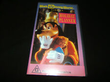 WALT DISNEY WORLD FLORIDA HOLIDAY PLANNER VHS VIDEO AUSTRALIAN