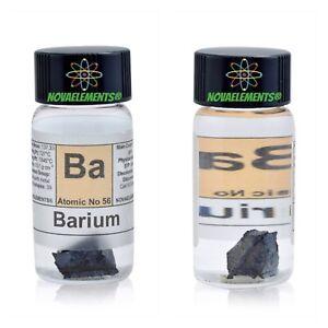 1 Gramo Bario Metálico Elemento 56 Ba 99,8% Piezas En Vial BNWT