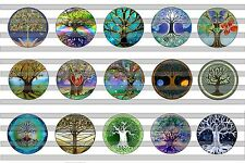 (30) Tree of Life Bottle Cap Image Pre-Cut 1 Inch (25mm)