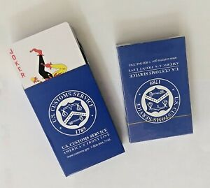 (Pack Of 4 ) U.S.Customs Playing Cards, Poker Size Standard Index