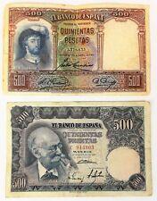 1 BILLET DE 500 ANS DE PESETAS 1931. 1 BILLET DE 500 DE PESETAS ANS 1951.ESPAGNE