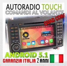 """AUTORADIO 7"""" ANDROID 5.1 DAB+ 4core Mercedes Classe A B VIANO,VITO,W169,W245 RDS"""