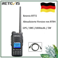 DMR GPS Retevis RT72 Dualband Funkgeräte Digital Walkie Talkie TDMA SMS 5W>RT84